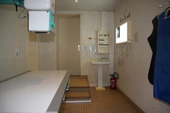 Salle de radiologie, clinique vétérinaire des iles