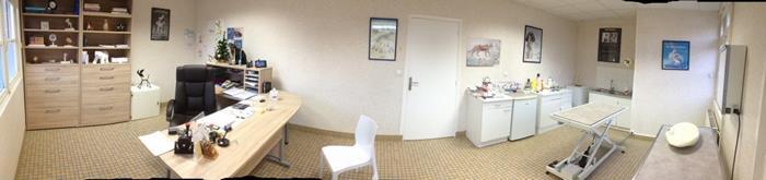 Salle de consultation, clinique vétérinaire des iles